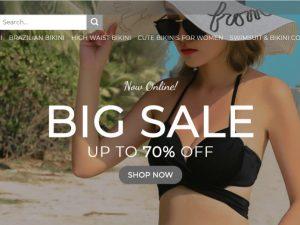 Bikini & Swimwear Website | Potential Profit: 5000$/month