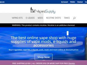 Vape & E-Cig Accessories Website | Potential Profit: 5000$/month