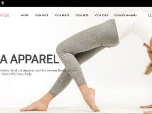 Yoga Equipment Website | Potential Profit: 6000$/month