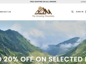 Camping/Hiking Products Website | Potential Profit: 5000$/month